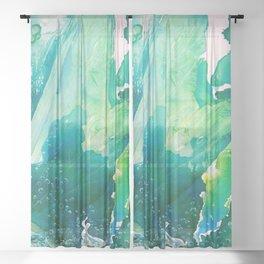 Environmental Importance, Deep Sea Water Bubbles Sheer Curtain