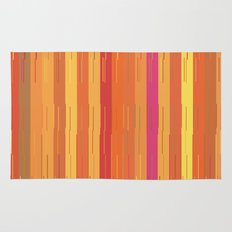 Orange and Yellow Stripes and Lines Abstract Rug