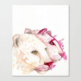 Leopards - A Collaboration with my Toddler Canvas Print