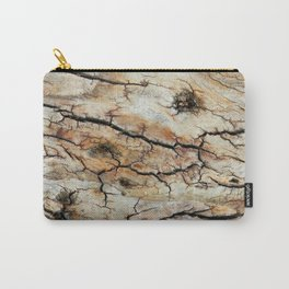 Cracked tree bark  Carry-All Pouch