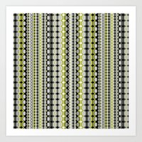 modern and graphic patterns Art Print