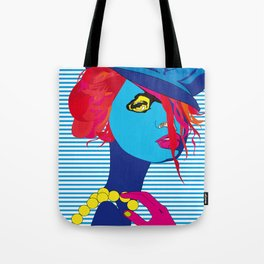 The Blue Girl Tote Bag