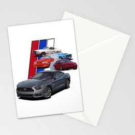 Mustang Through the years Stationery Cards