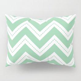 Mint Chevron Pillow Sham