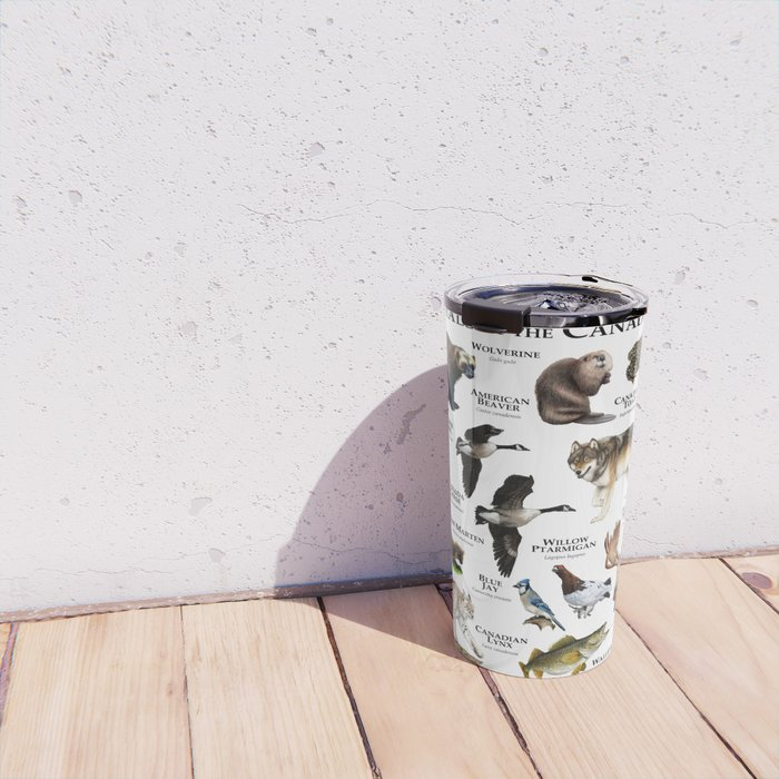 Animals of the Canadian Shield Travel Mug