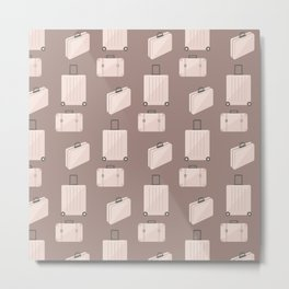 Travel pattern with bags Metal Print
