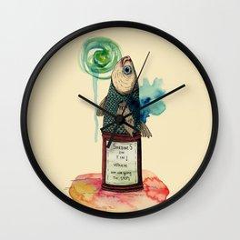 Fish on tin Wall Clock