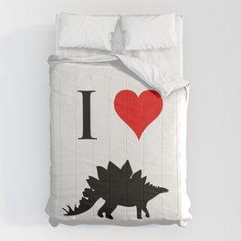 I Love Dinosaurs - Stegosaurus Comforters
