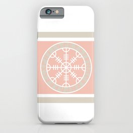 Icelandic Magical Stave - The helm of awe iPhone Case