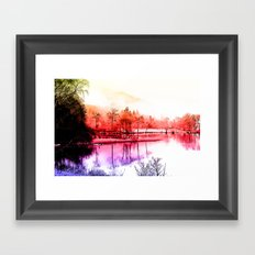 Tranquility in Red Framed Art Print