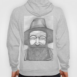 Bearded Man in Hat Hoody