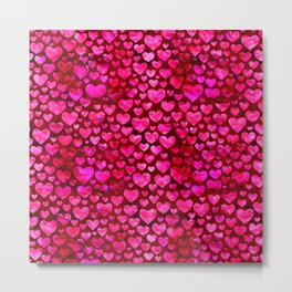 Heart Pattern 01 Metal Print