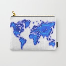 Plastic world map Carry-All Pouch