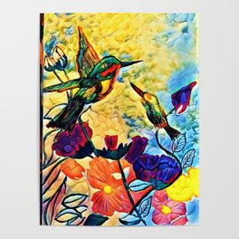 A Hummer Of A Summer Day Poster