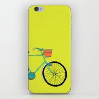 bicycle iPhone & iPod Skins featuring Bicycle by bluebutton studio