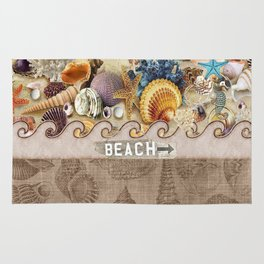Beachcombers Seashell Paradise Rug