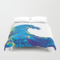hokusai Duvet Covers featuring Hokusai Rainbow_B by FACTORIE