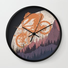 MTB  Drop Wall Clock