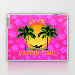 Pink Flowers Island Time Laptop & iPad Skin
