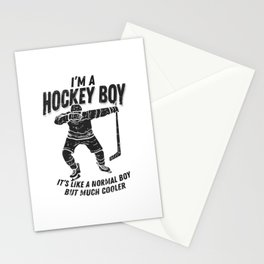 Ice Hockey Dabbing Gift Stationery Cards