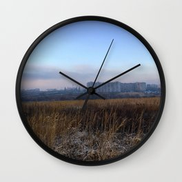 Autumn field. Wall Clock
