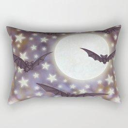 the moon, stars, bats, & calla lilies Rectangular Pillow