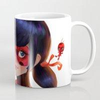 ladybug Mugs featuring Ladybug by ChrySsV