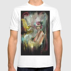 Phoenix 2 MEDIUM Mens Fitted Tee White