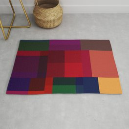 Jewel tones abstract geometric I Rug