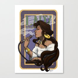 Art Nouveau Lady Skylark Canvas Print