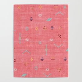 Cactus Silk Pattern in Pink Poster