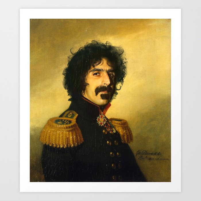 Frank Zappa Replaceface Art Print By Replaceface Society6