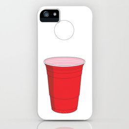 Beer Pong Illustration iPhone Case