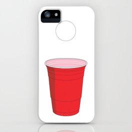Beer Pong Illustration iPhone Case