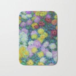 """Claude Monet """"Chrysanthemums"""", 1897 Bath Mat"""
