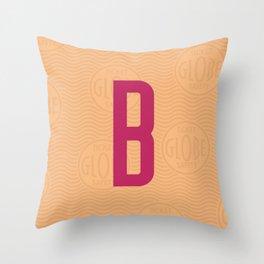 B Ticket Throw Pillow
