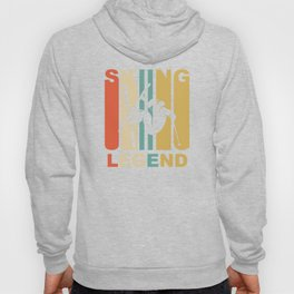 Vintage 1970's Style Skiing Legend Graphic Hoody