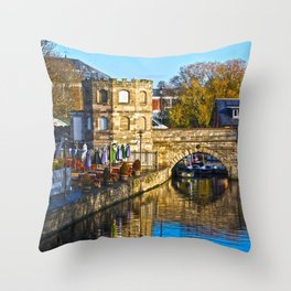 Reflection At Stratford Bridge  Throw Pillow