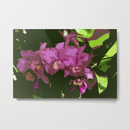 Pink Orchid Abstract Metal Print
