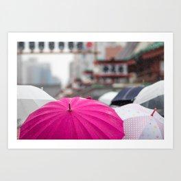 A Sea of Umbrellas Art Print