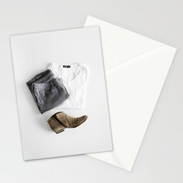 SHIRT - PANTS - BOOTS - MAN - PHOTOGRAPHY Stationery Cards