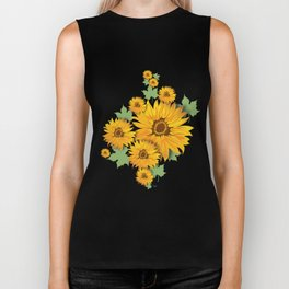 Summer Sunflower Biker Tank