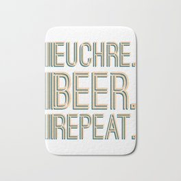 Euchre Player Best Card Player Beer design Bath Mat
