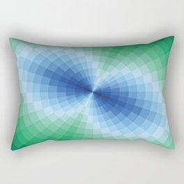 Blue-green fantasy Rectangular Pillow