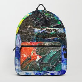 Abstract Oil Paint on Canvas Rothko Backpack