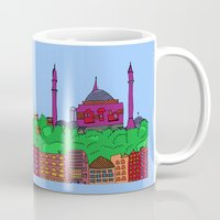 istanbul Mugs featuring Istanbul by andy_panda_