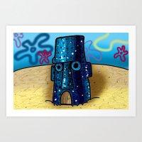 spongebob Art Prints featuring Spongebob by LilBroxc