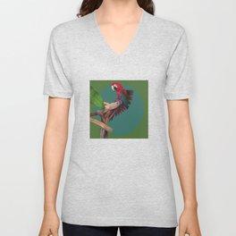 Macaw Unisex V-Neck