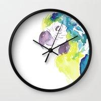 greg guillemin Wall Clocks featuring Greg  by Tatiana Shaffer