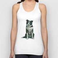 border collie Tank Tops featuring border collie by phil art guy